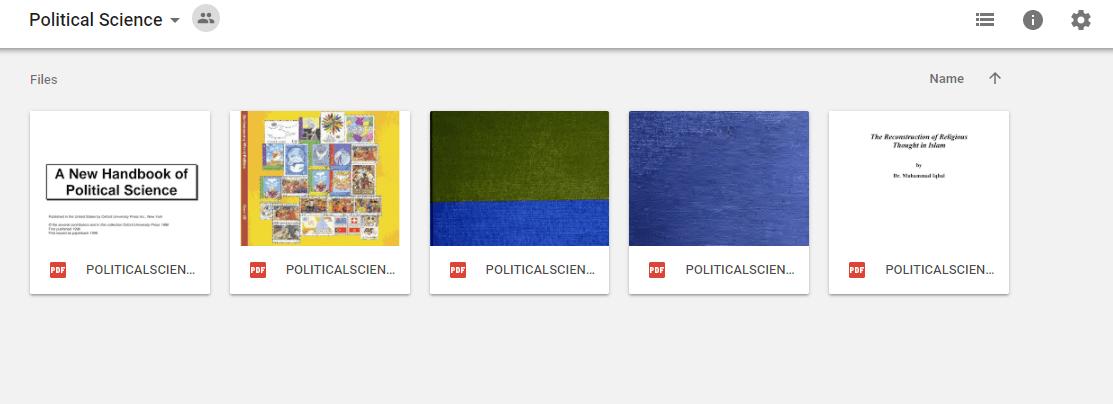 Political Science - Google Drive Links